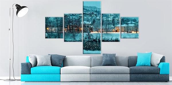 slike na kanvas platnu iz šest delova