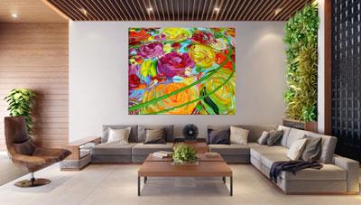 slike na platnu umetnicka dela cvetni motivi