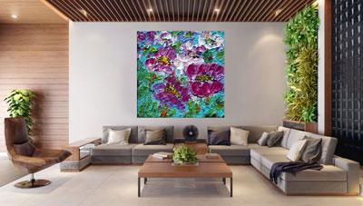 slike na platnu umetnicka dela sareno cvece