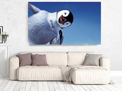 slike na platnu deciji motivi stampa slika na platnu pingvin