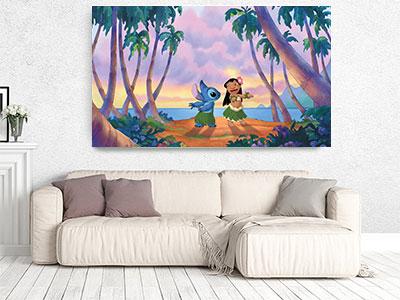 slike na platnu deciji motivi stampa slika na platnu devojcica i koala