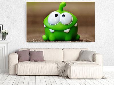 slike na platnu deciji motivi zelena zaba