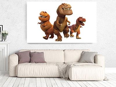 slike na platnu deciji motivi dinosaurusi