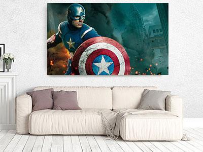 slike na platnu deciji motivi kapetan amerika