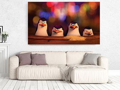 slike na platnu deciji motivi pingvini sa madagaskara