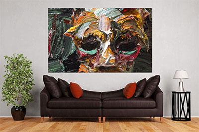 slike na platnu umetnicka dela apstraktna maska