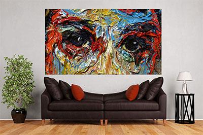 slike na platnu umetnicka dela apstraktni portret ulje na platnu