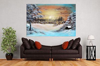 slike na platnu umetnicka dela zima