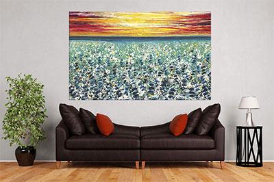 slike na platnu umetnicka dela cvetno polje
