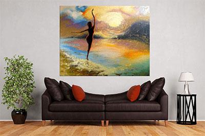 slike na platnu umetnicka dela devojka na zalasku sunca