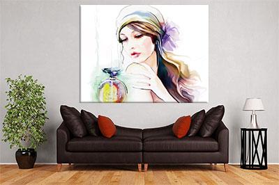 slike na platnu umetnicka dela portret zene sa maramom