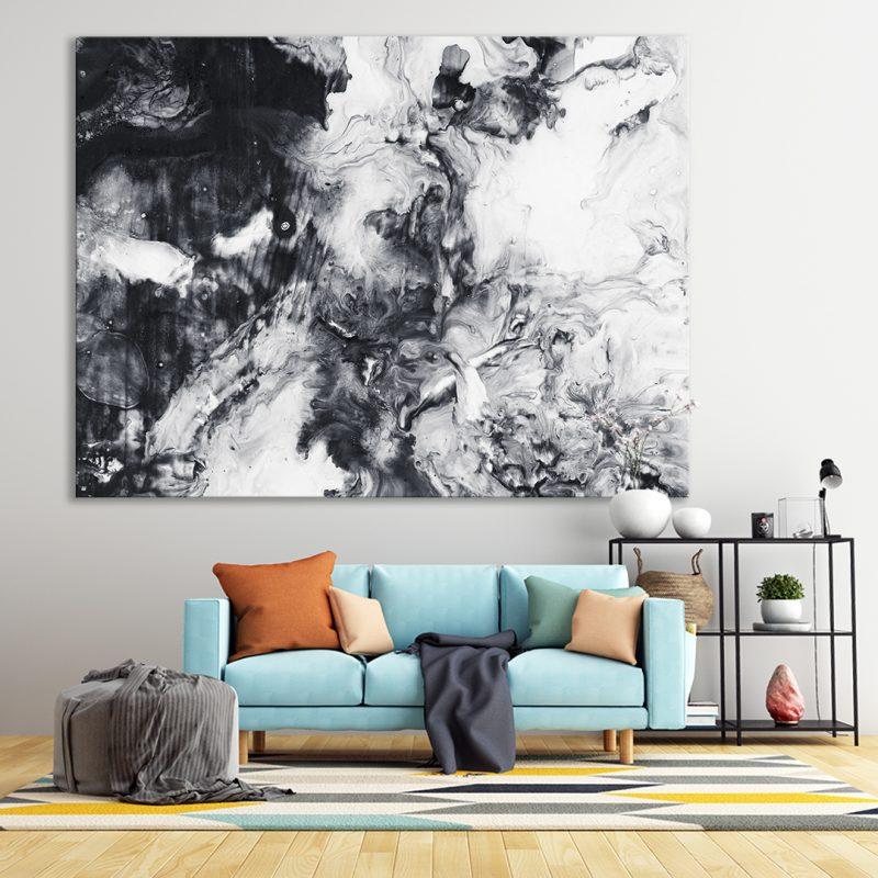 slika na platnu apstraktna po zelji